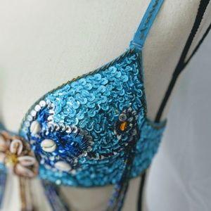 handmade Intimates & Sleepwear - Mermaid / belly dancing bra, hand made, 36/80